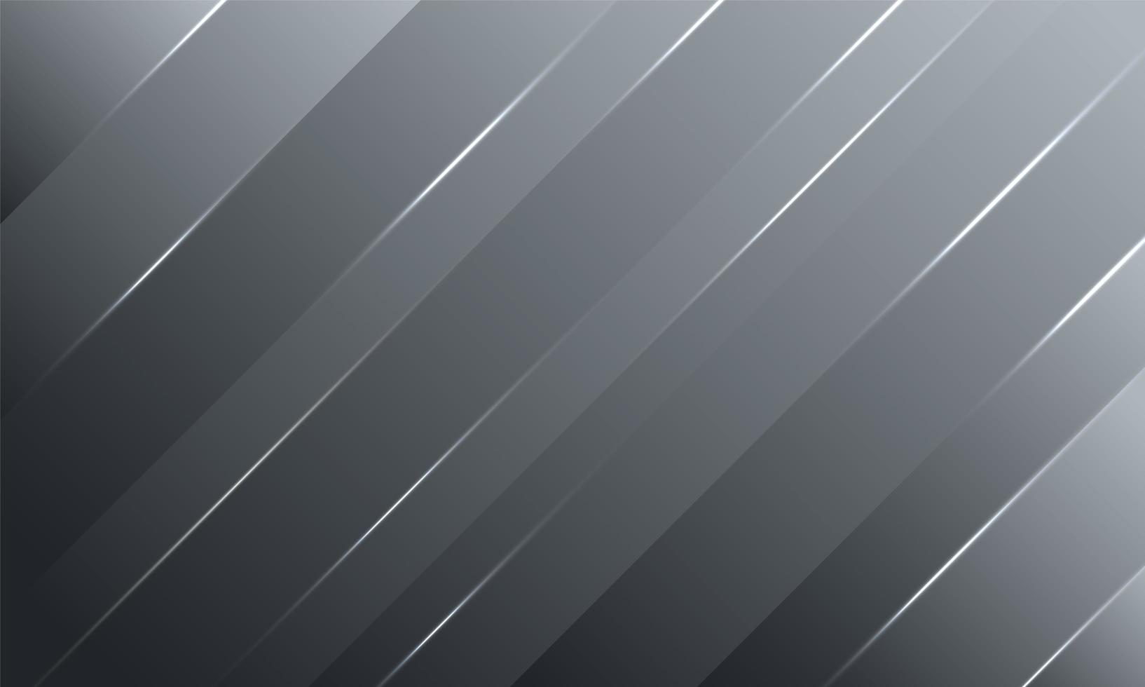 Dark gradient stripes background with shining light lines vector