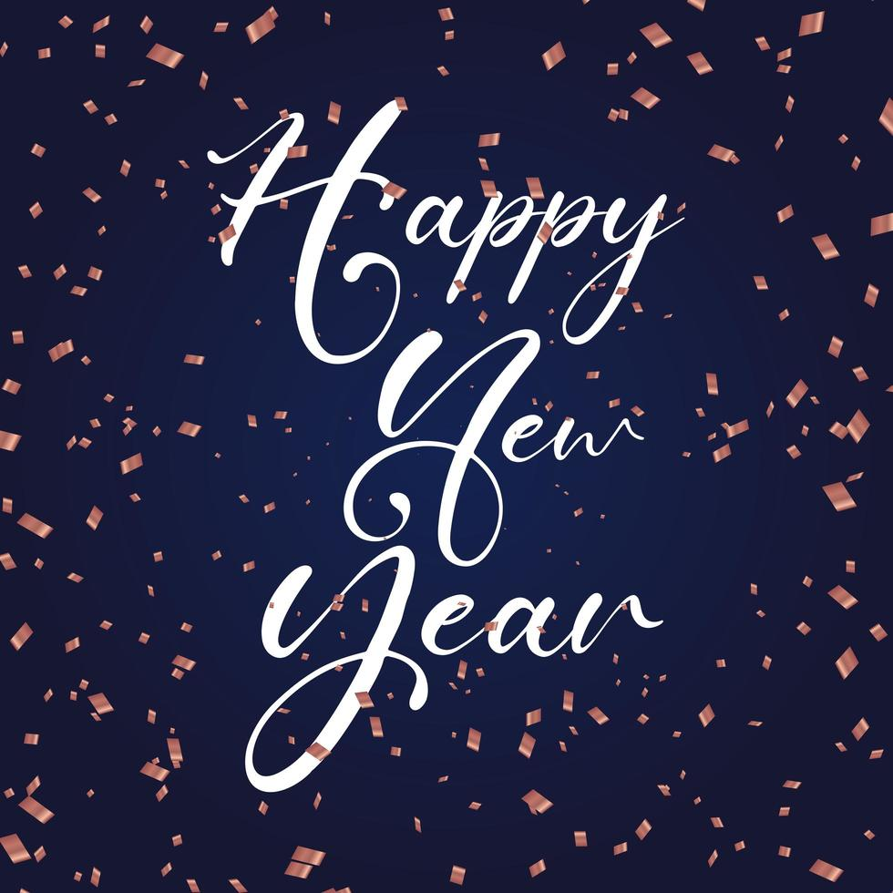 Happy New Year background with confetti vector