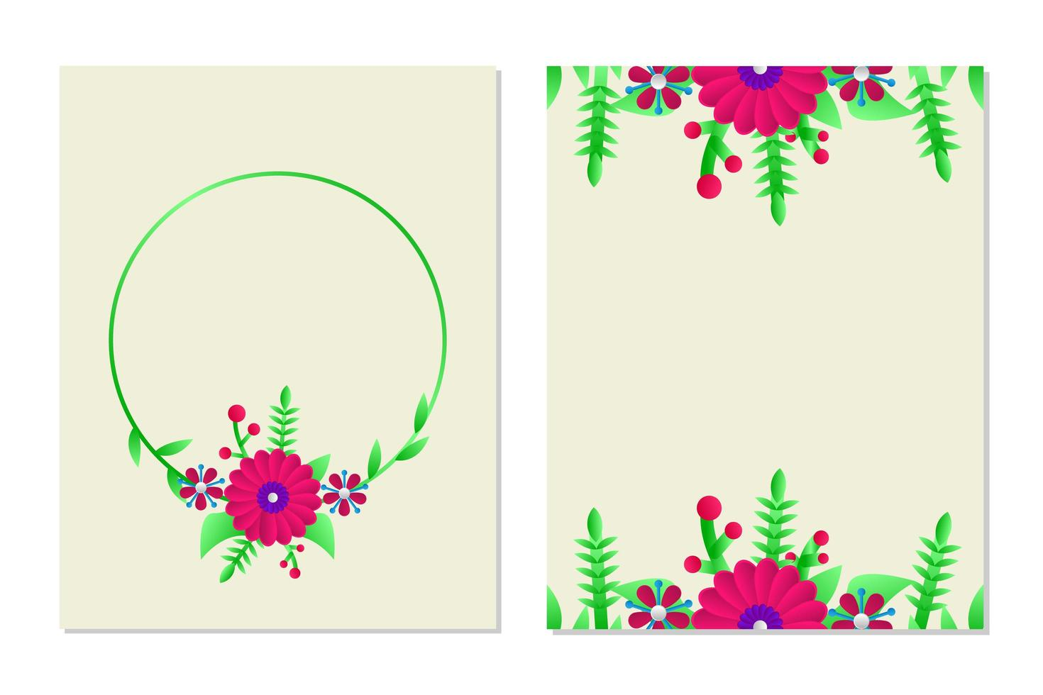 Floral Greeting Card Template Design For Layout And Cover Card Download Free Vectors Clipart Graphics Vector Art