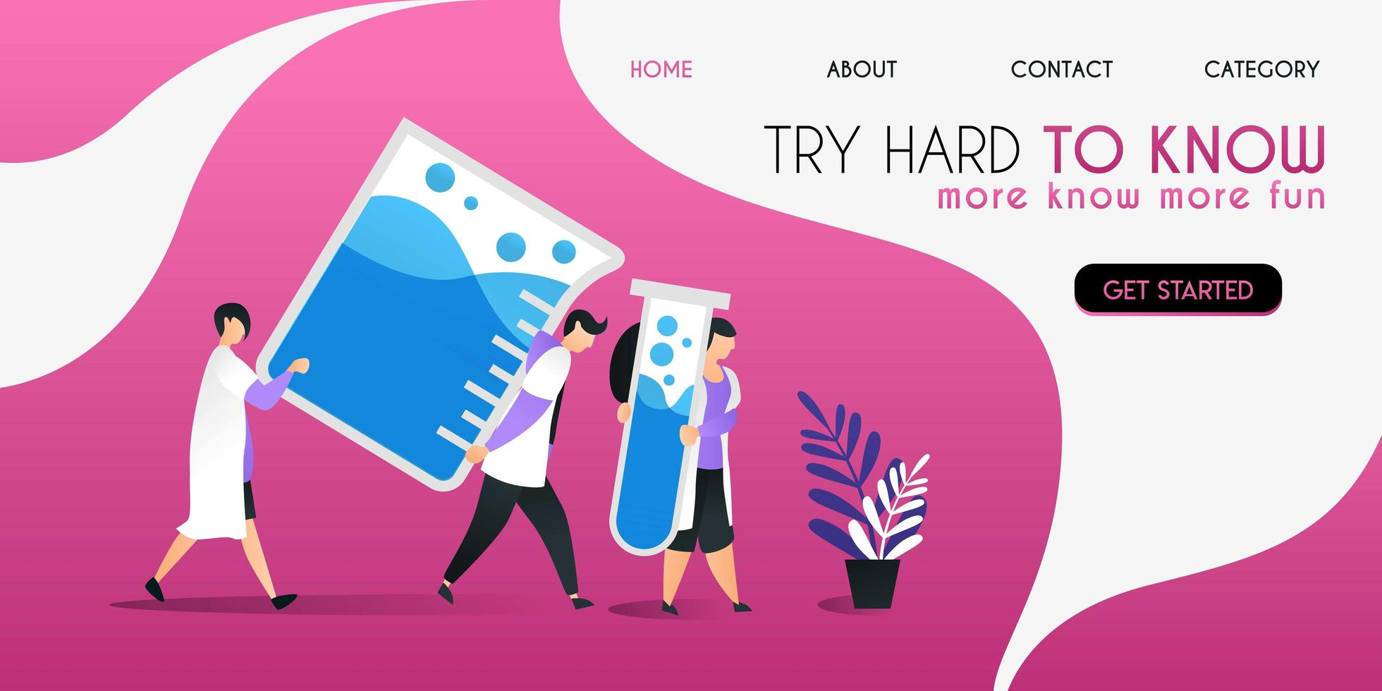 scientists who are working hard lift some liquid in the vessel vector illustration concept, can be use for presentation, web, banner ui ux, landing page
