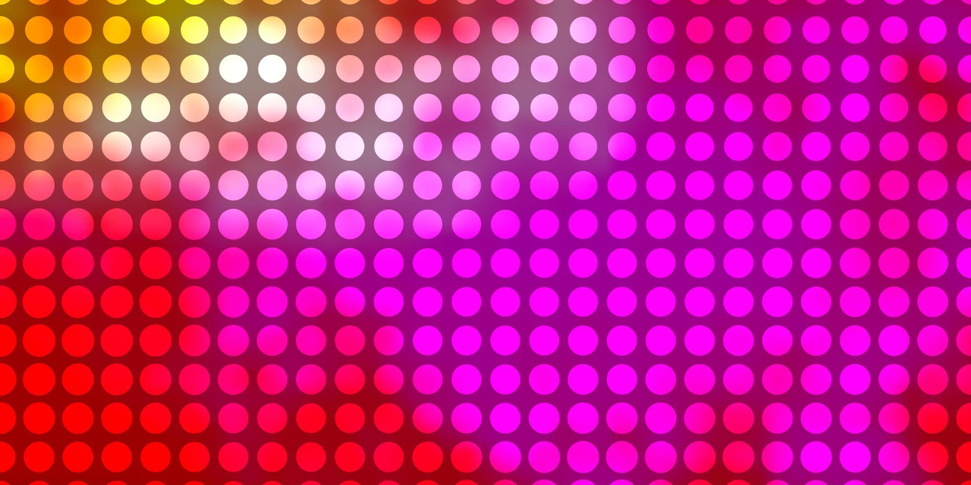 plantilla de vector de color rosa claro, amarillo con círculos.