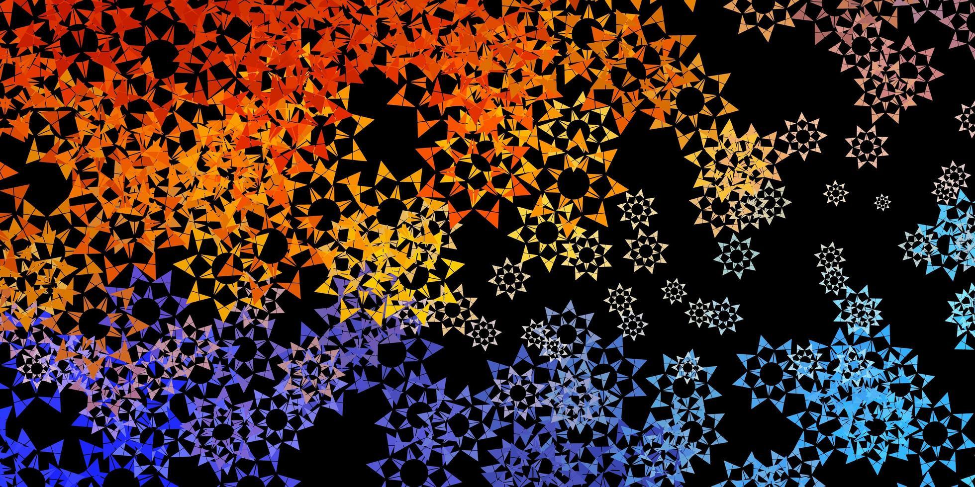 Fondo de vector azul oscuro con estilo poligonal.