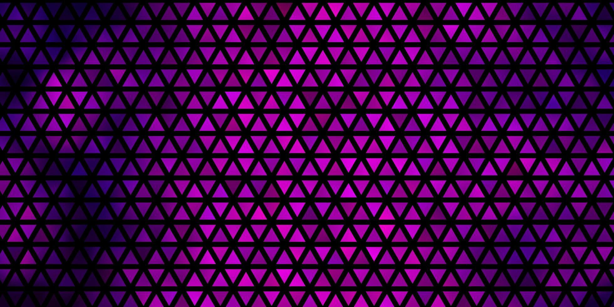 Fondo de vector púrpura oscuro con triángulos.