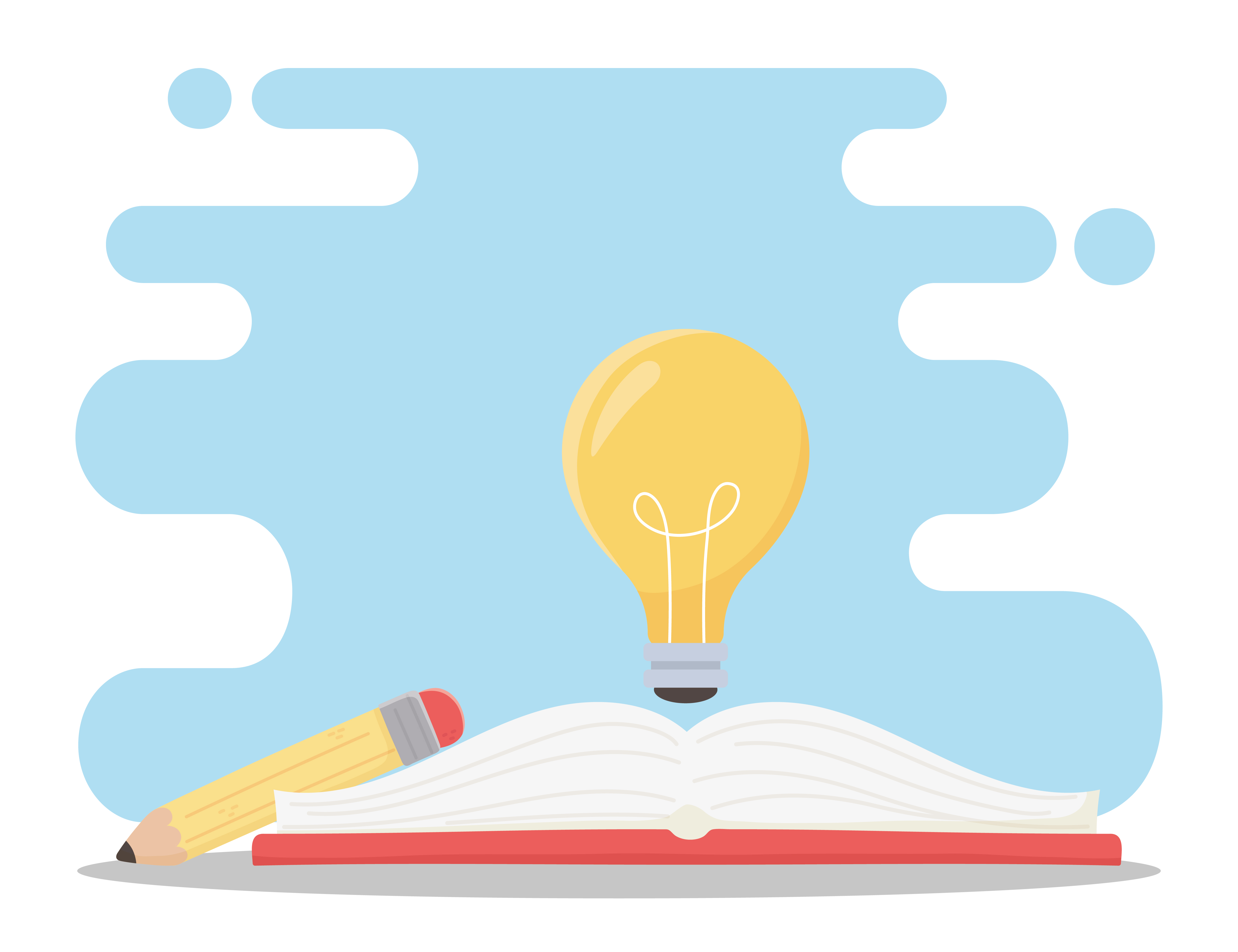 education online light bulb on book and pencil 1830057 vector art at vecteezy