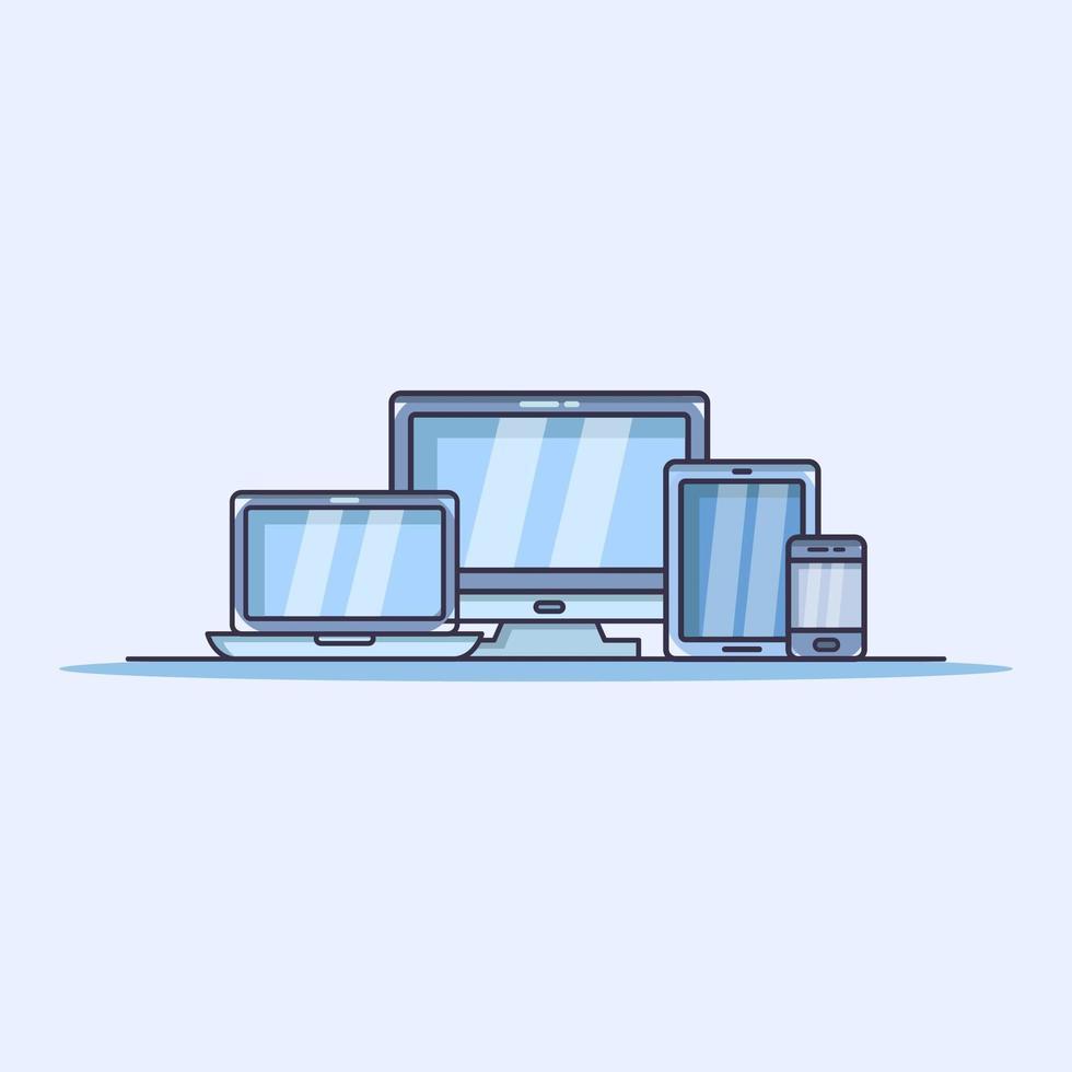 dispositivo moderno ilustrado en vector sobre fondo blanco