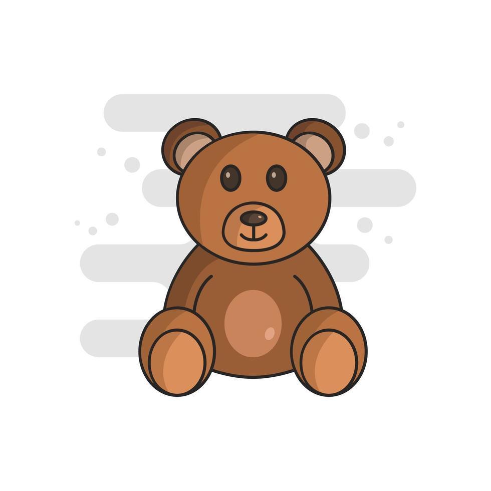 oso de peluche ilustrado en vector sobre fondo blanco