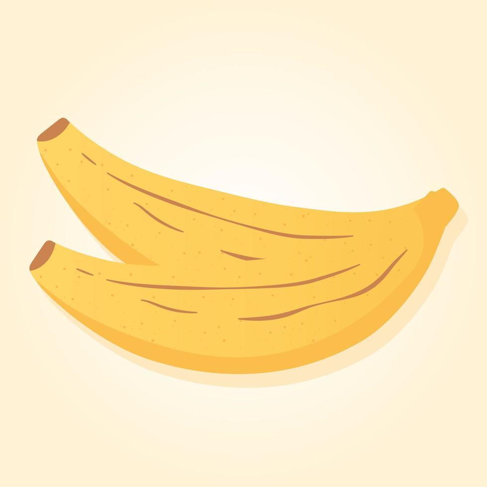 frutas tropicales bananas alimentos, compras de comestibles vector