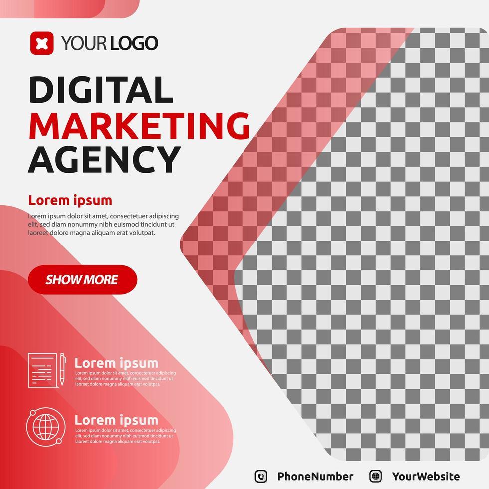 Digital marketing template post for social media vector