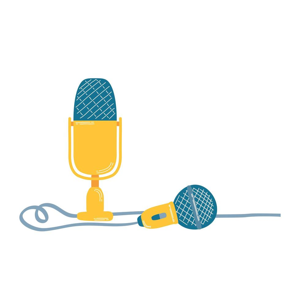 microphone sound audio device icon vector