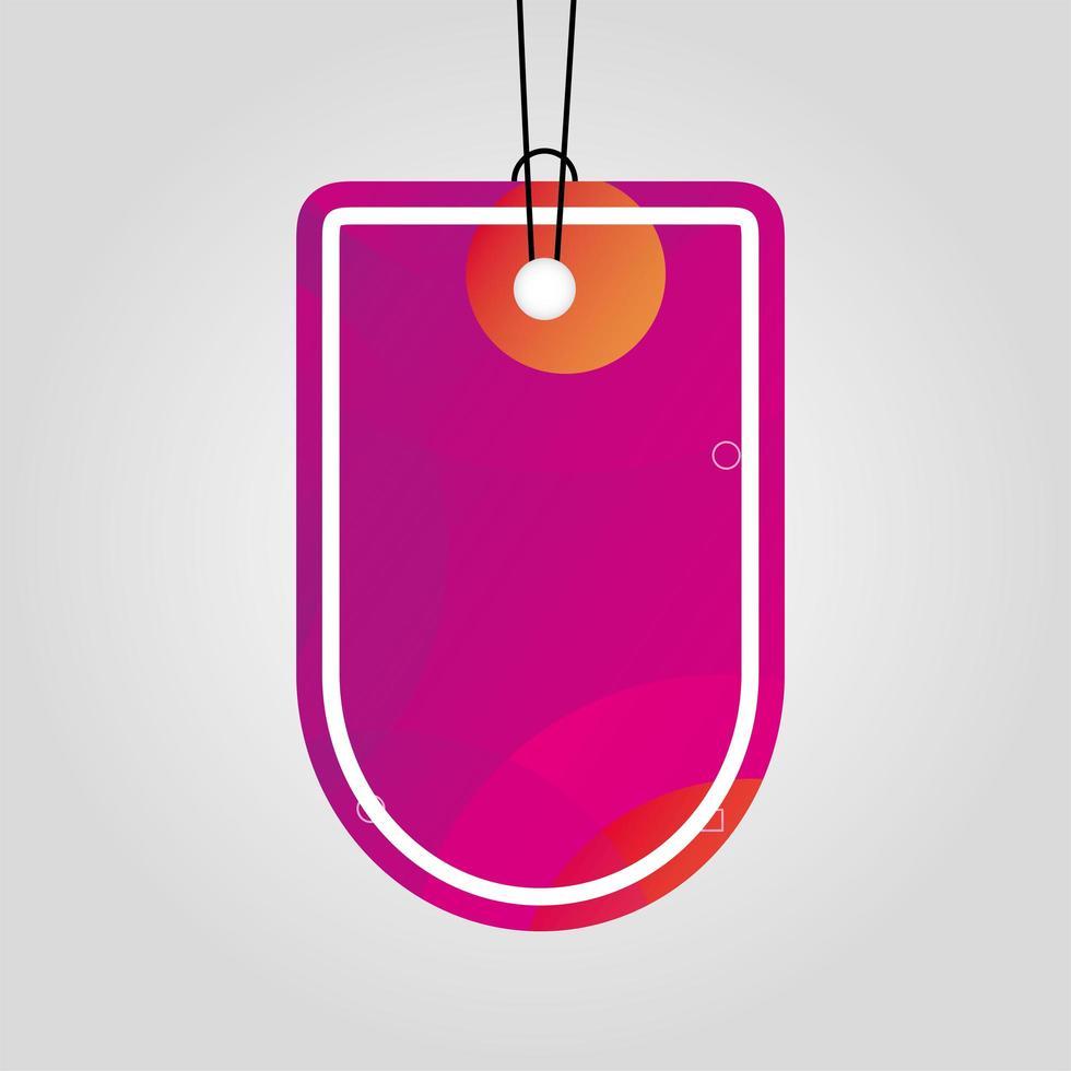 etiqueta comercial con color rosa vibrante vector