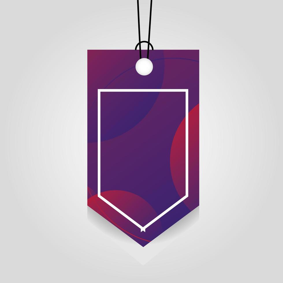 etiqueta comercial con color violeta vibrante vector
