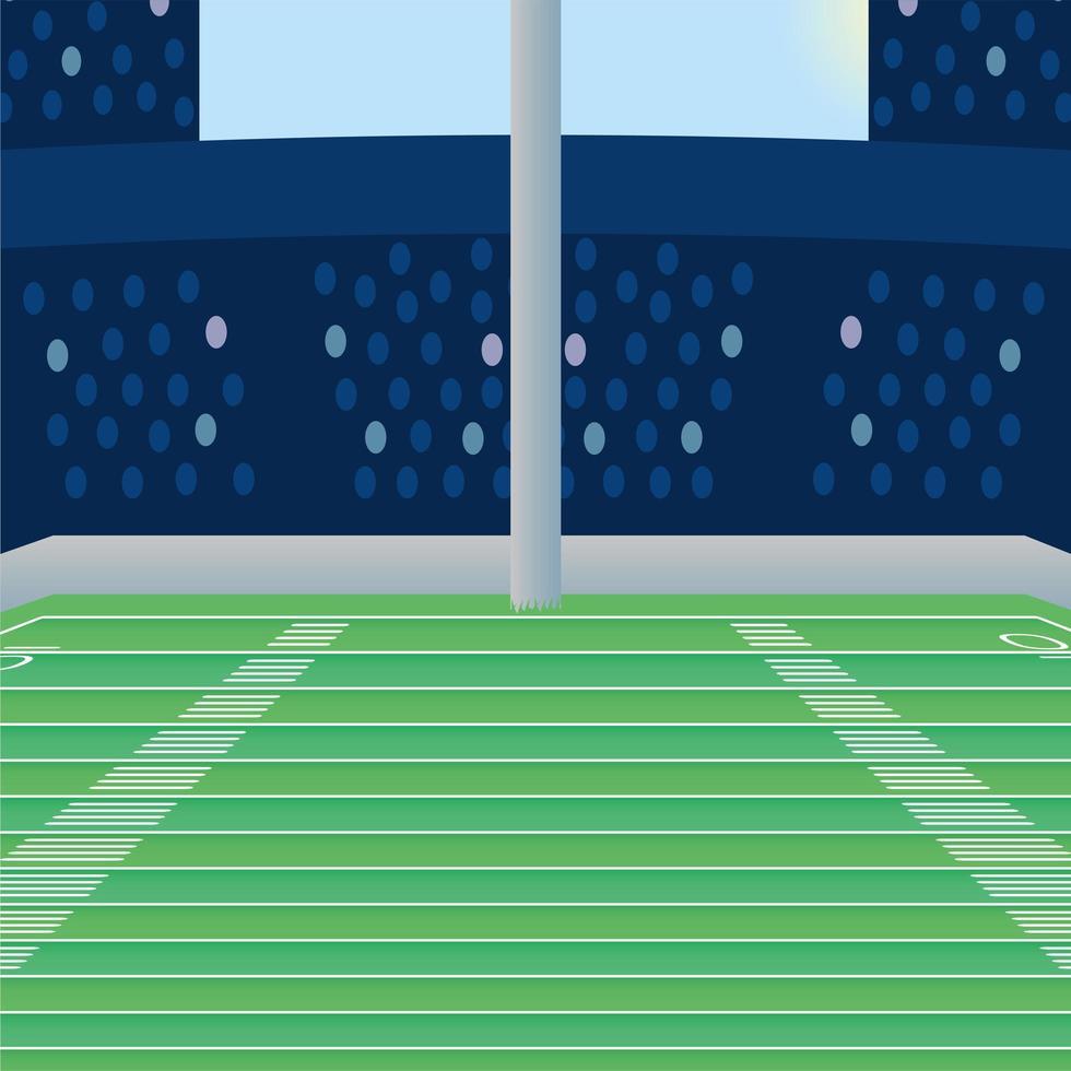 icono de escena de campo de fútbol americano vector