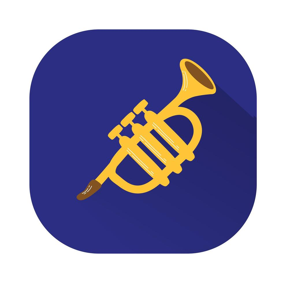 trumpet musical instrument isolated icon vector