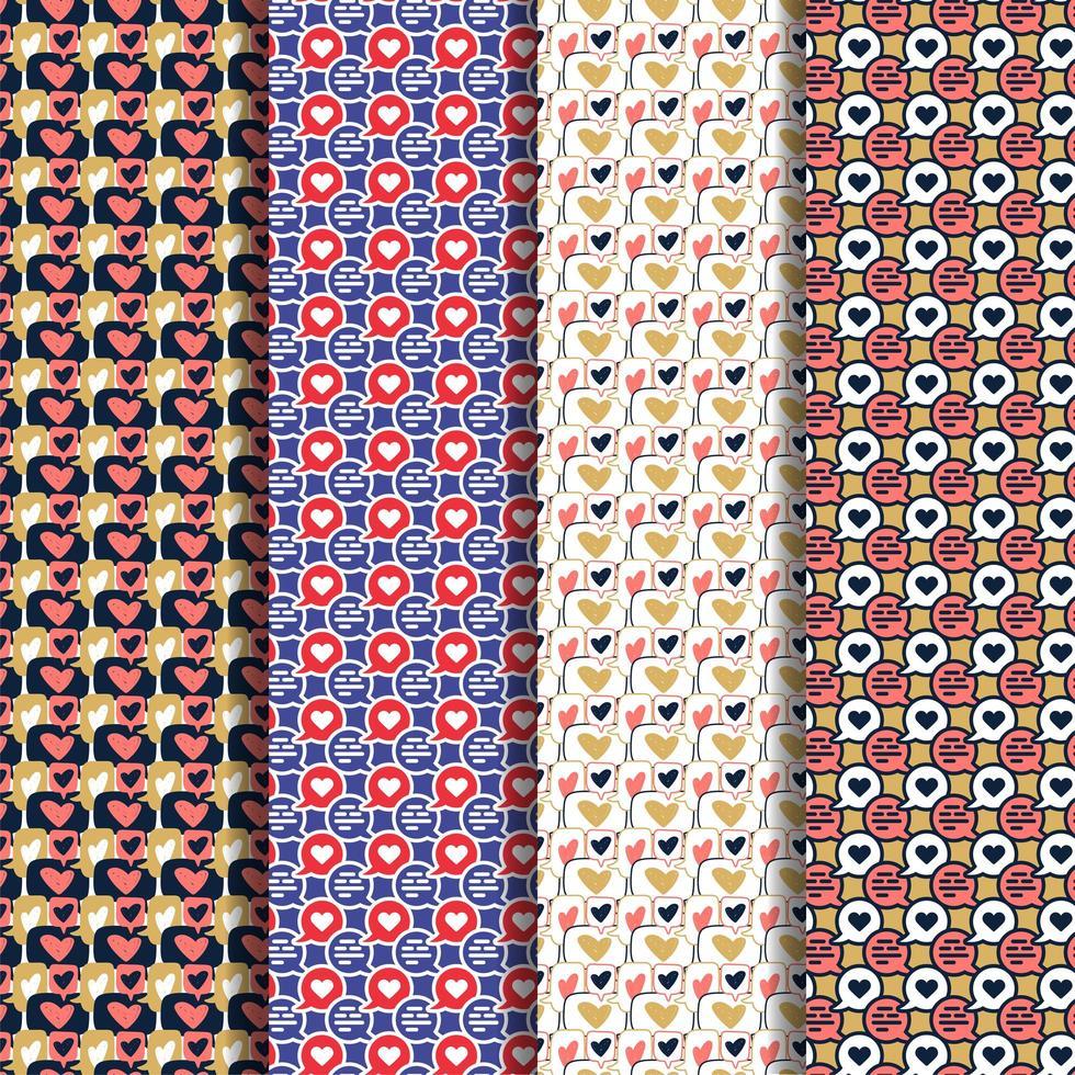 conjunto de patrones de chat vector