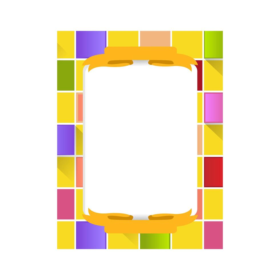 Abstract square frame photo template design decoration vector