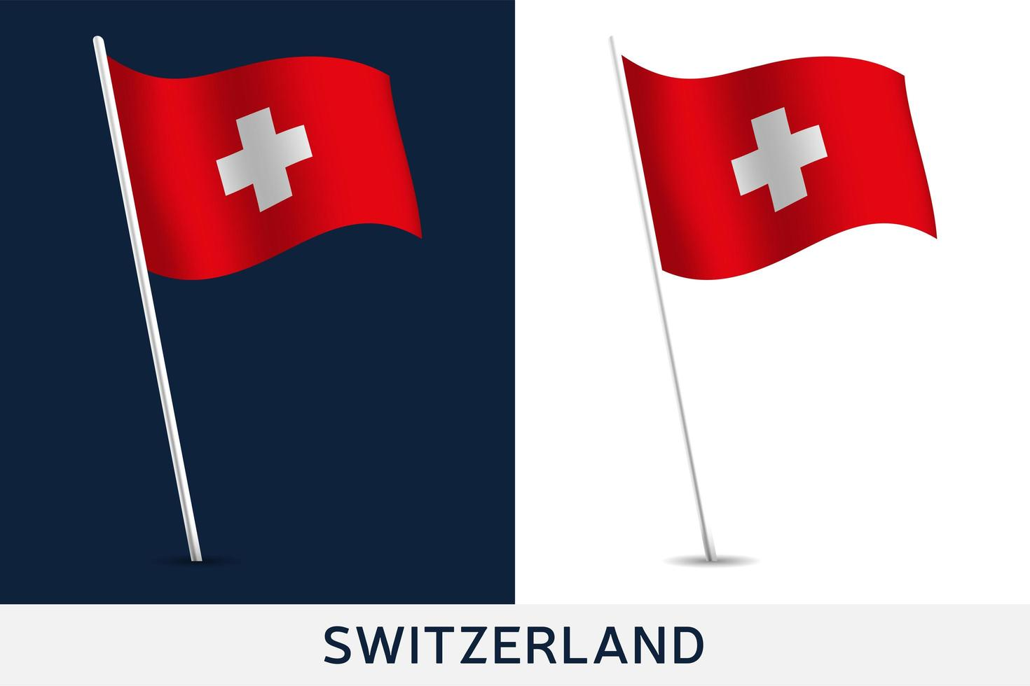 Switzerland vector flag