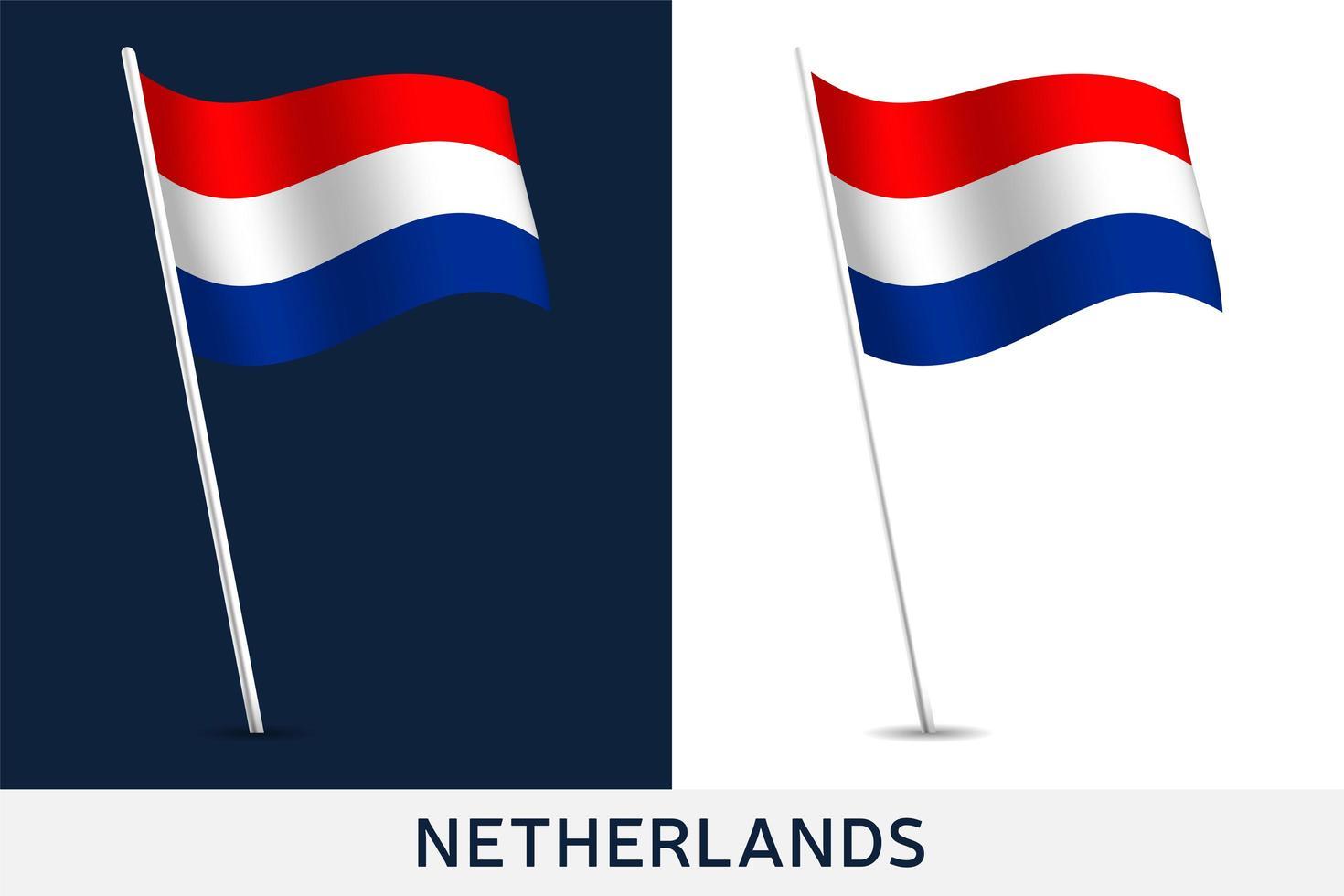bandera de países bajos vector