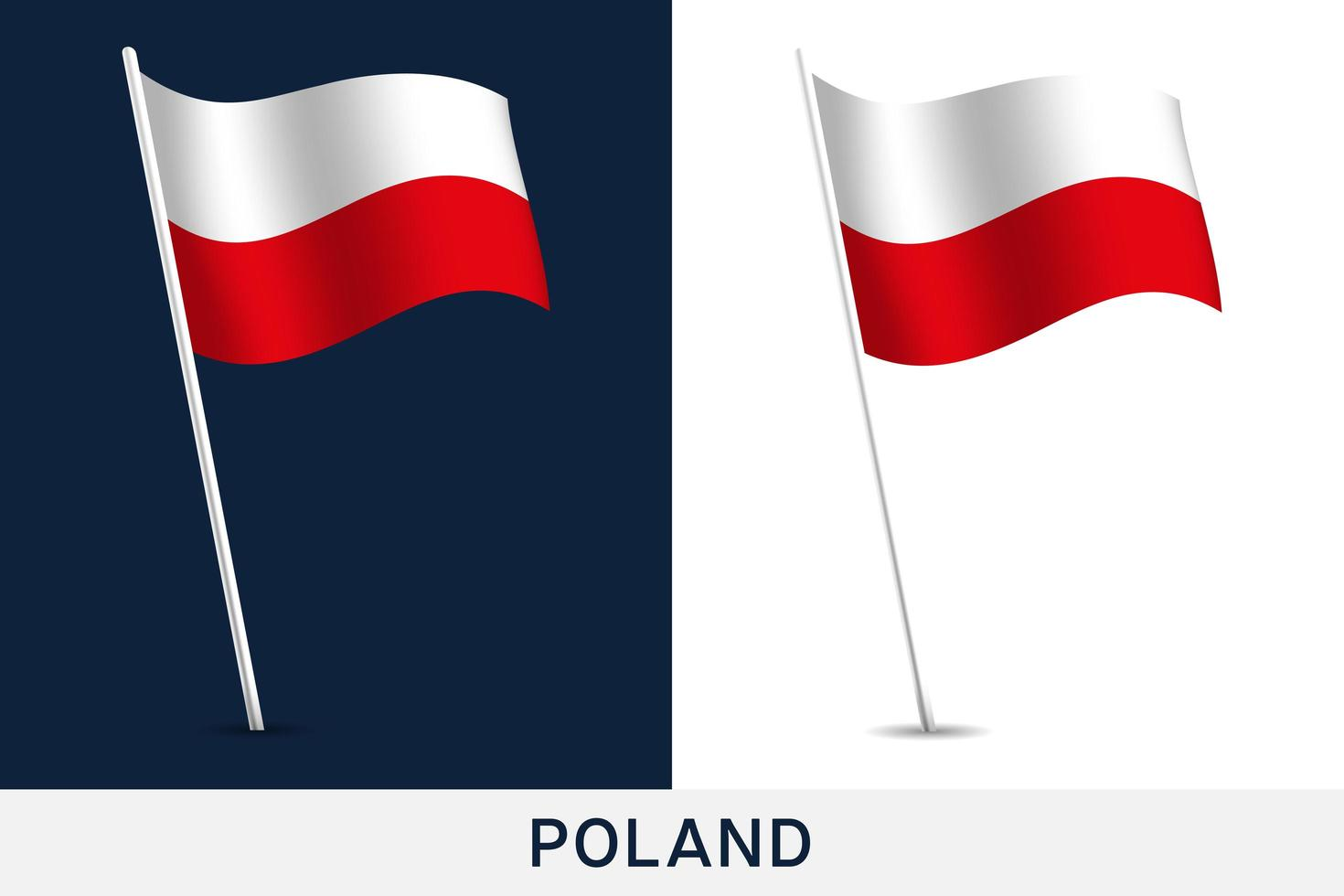 Poland vector flag