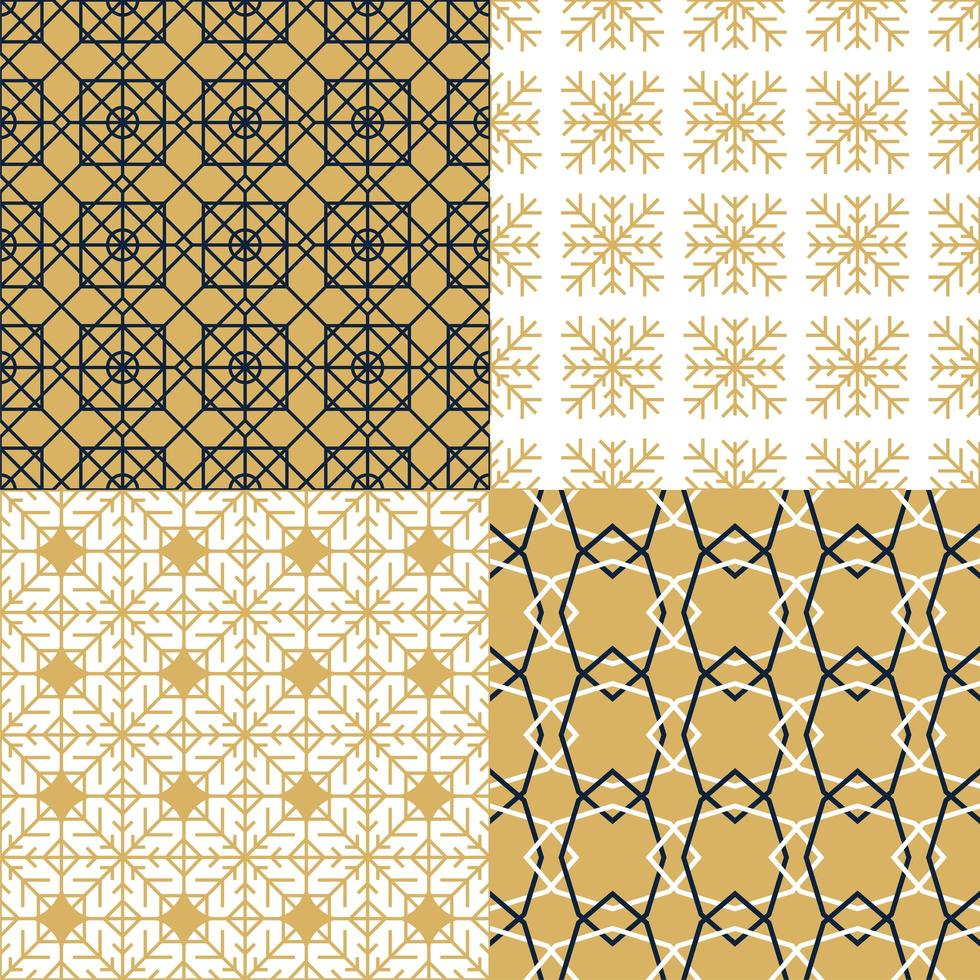 Set of luxury and fashion abstract patterns vector
