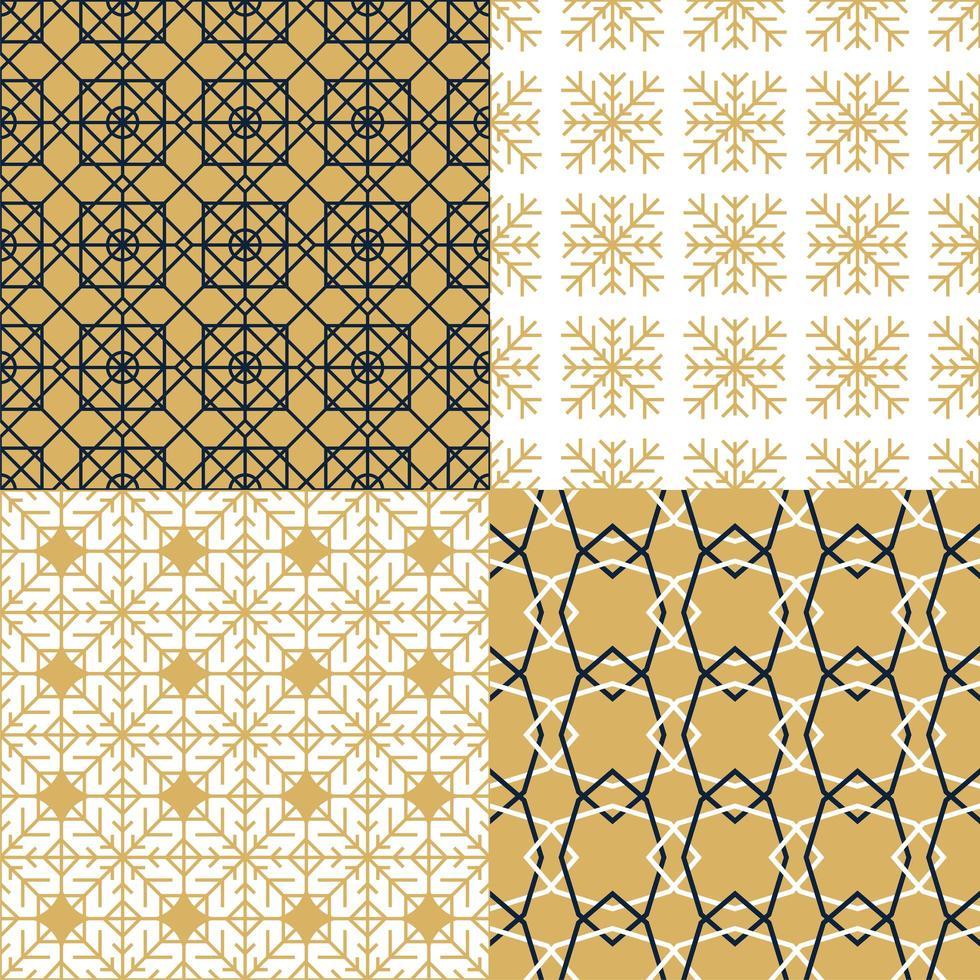 conjunto de patrones abstractos de lujo y moda vector