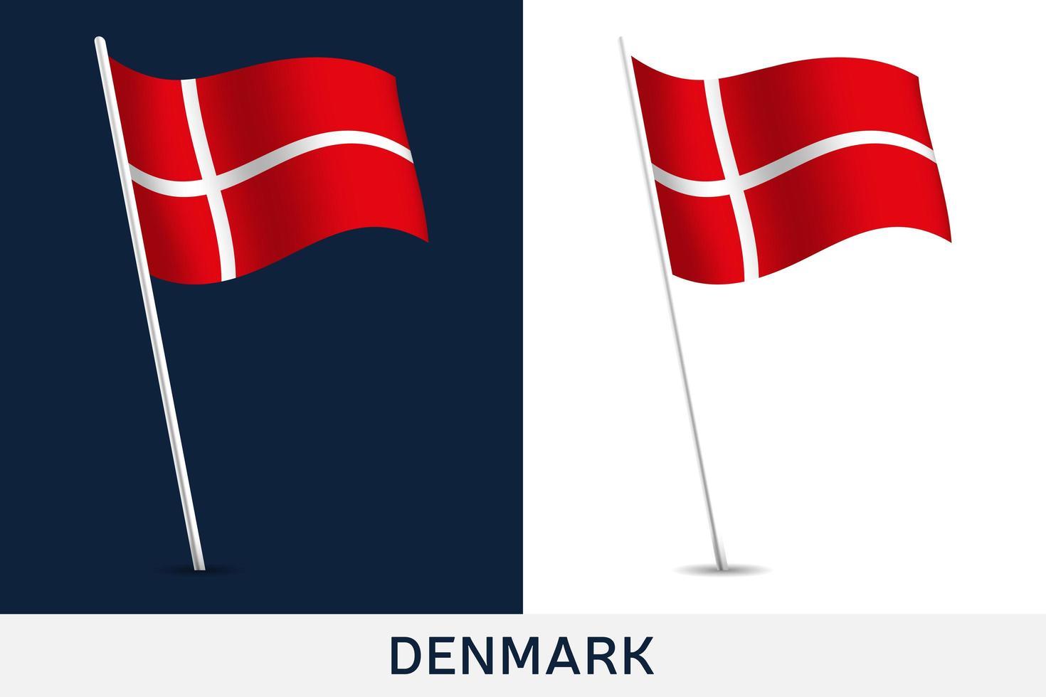 bandera de dinamarca vector