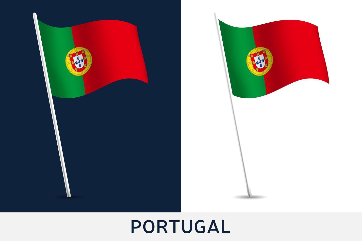 bandera portugal vector