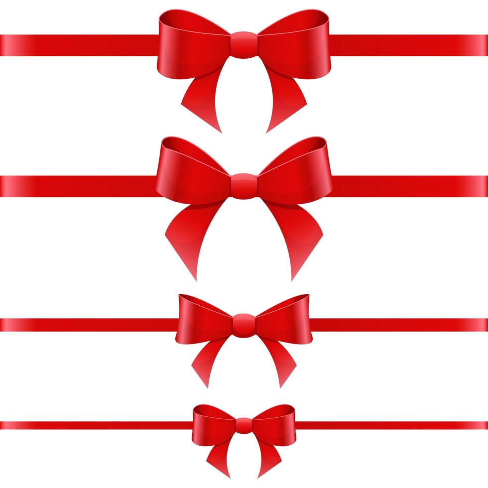 Tied bow vector design illustration isolated on white background