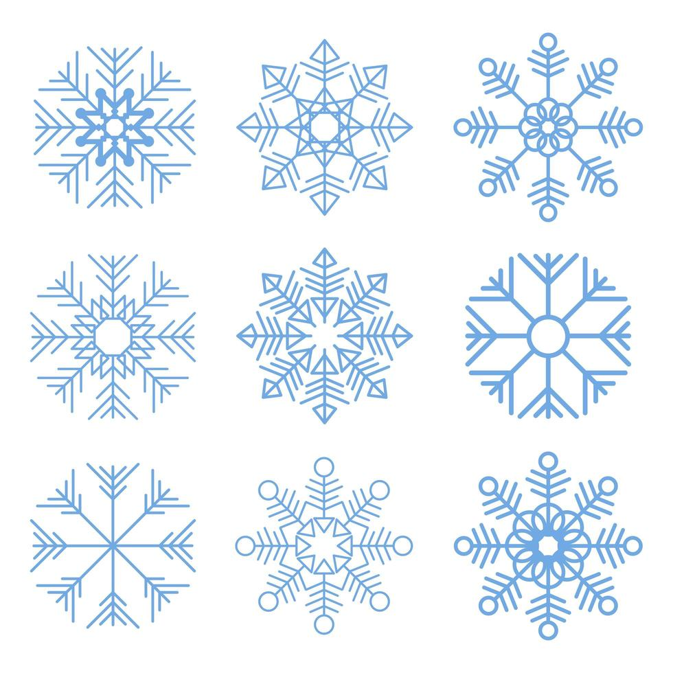 Snowflakes vector design illustration isolated on white background