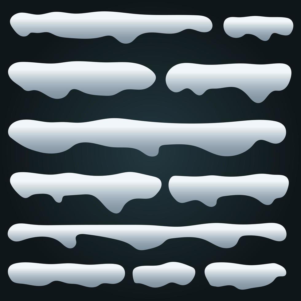 Ilustración de diseño de vector de gorros de nieve aislado sobre fondo