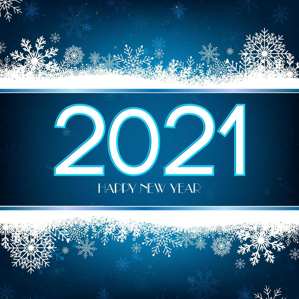 Happy New Year blue and gold background vector