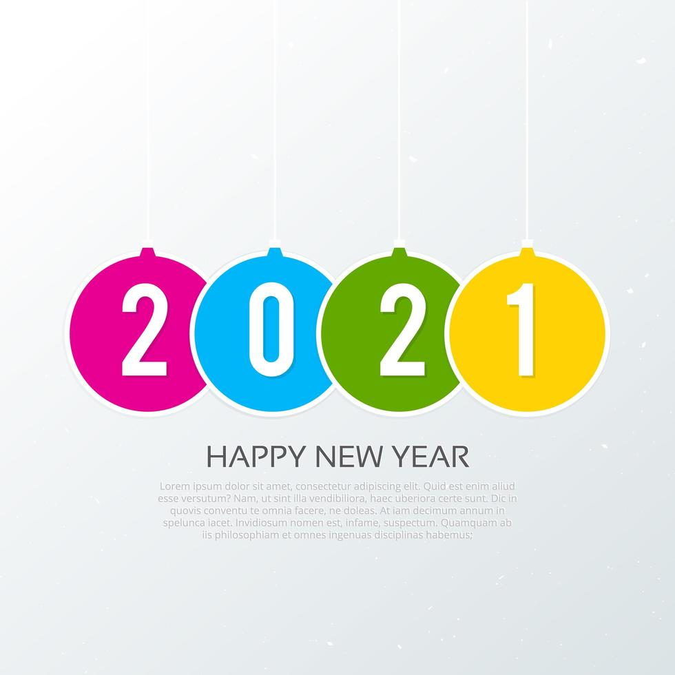Happy new year 2021 typography background vector
