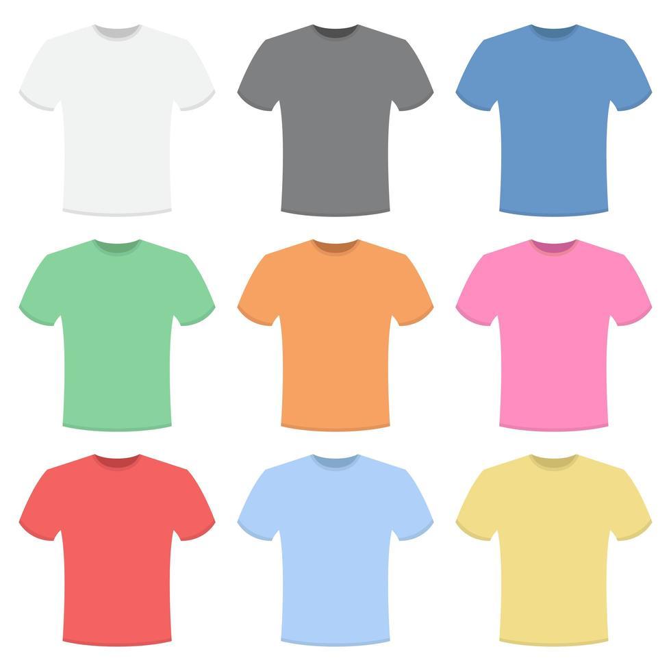 Ilustración de diseño de vector de colección de camiseta aislado sobre fondo blanco