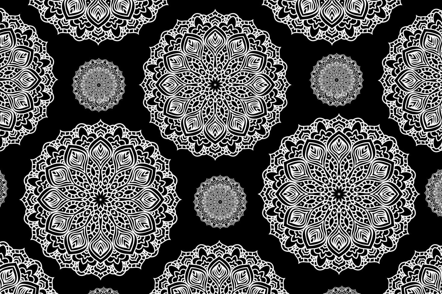 Fondo de mandala circular. adorno decorativo en estilo étnico oriental. página de libro para colorear. vector