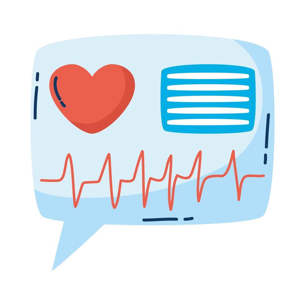Cardiología cardíaca médica en bocadillo vector