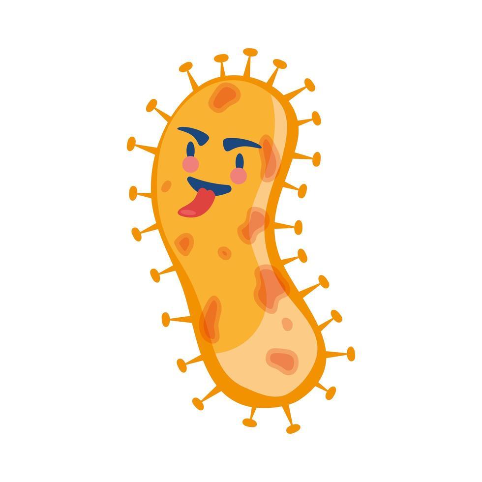 personaje cómico de partículas pandémicas covid19 vector