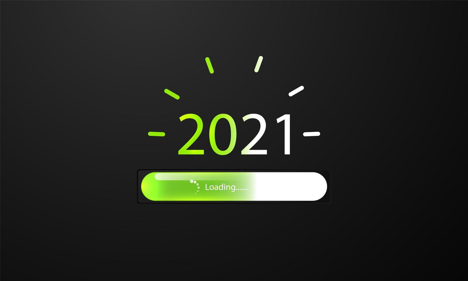 Feliz año nuevo 2021 fondo de barra de carga. vector