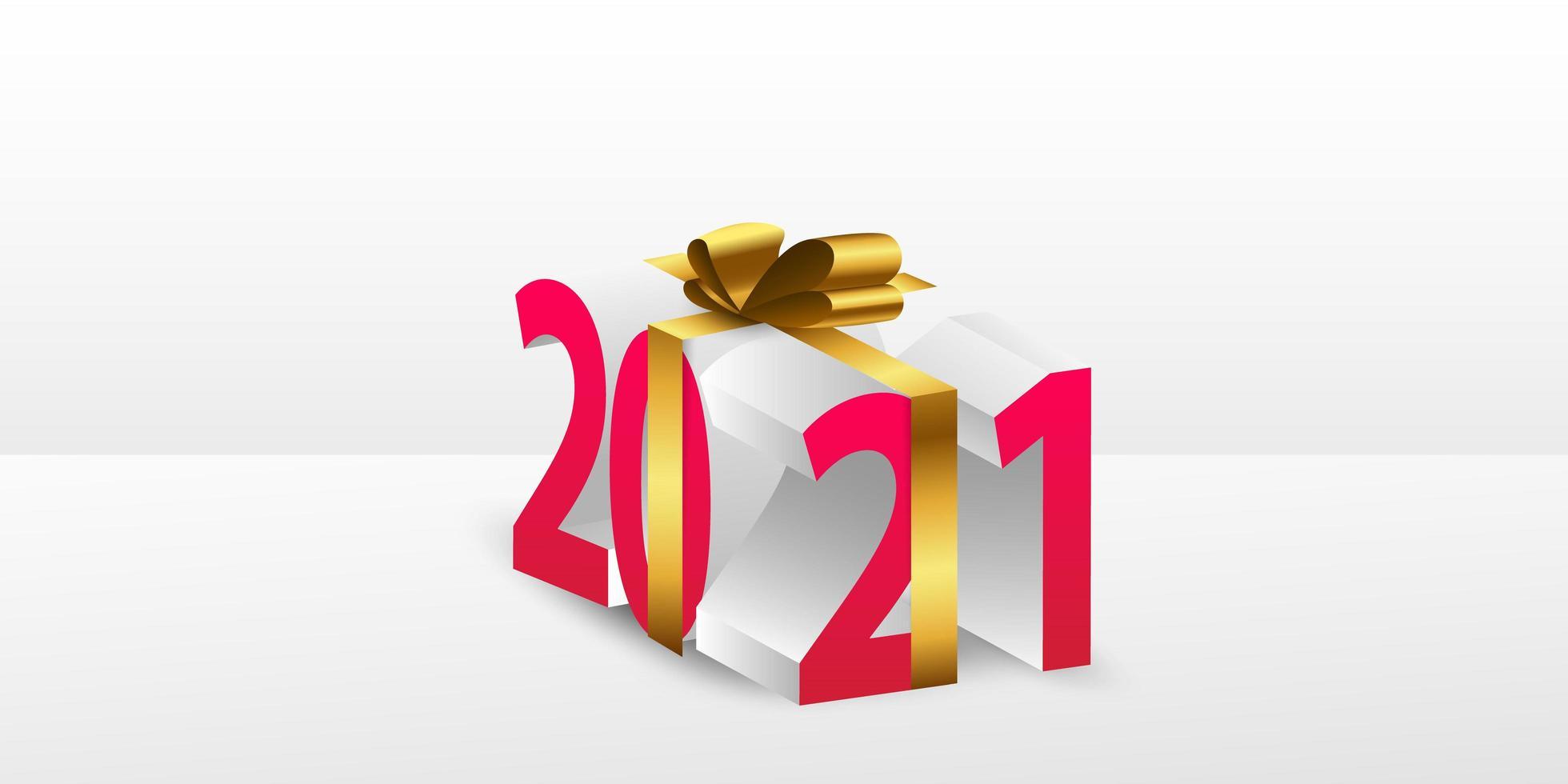 Feliz año nuevo 2021 fondo de regalo. vector