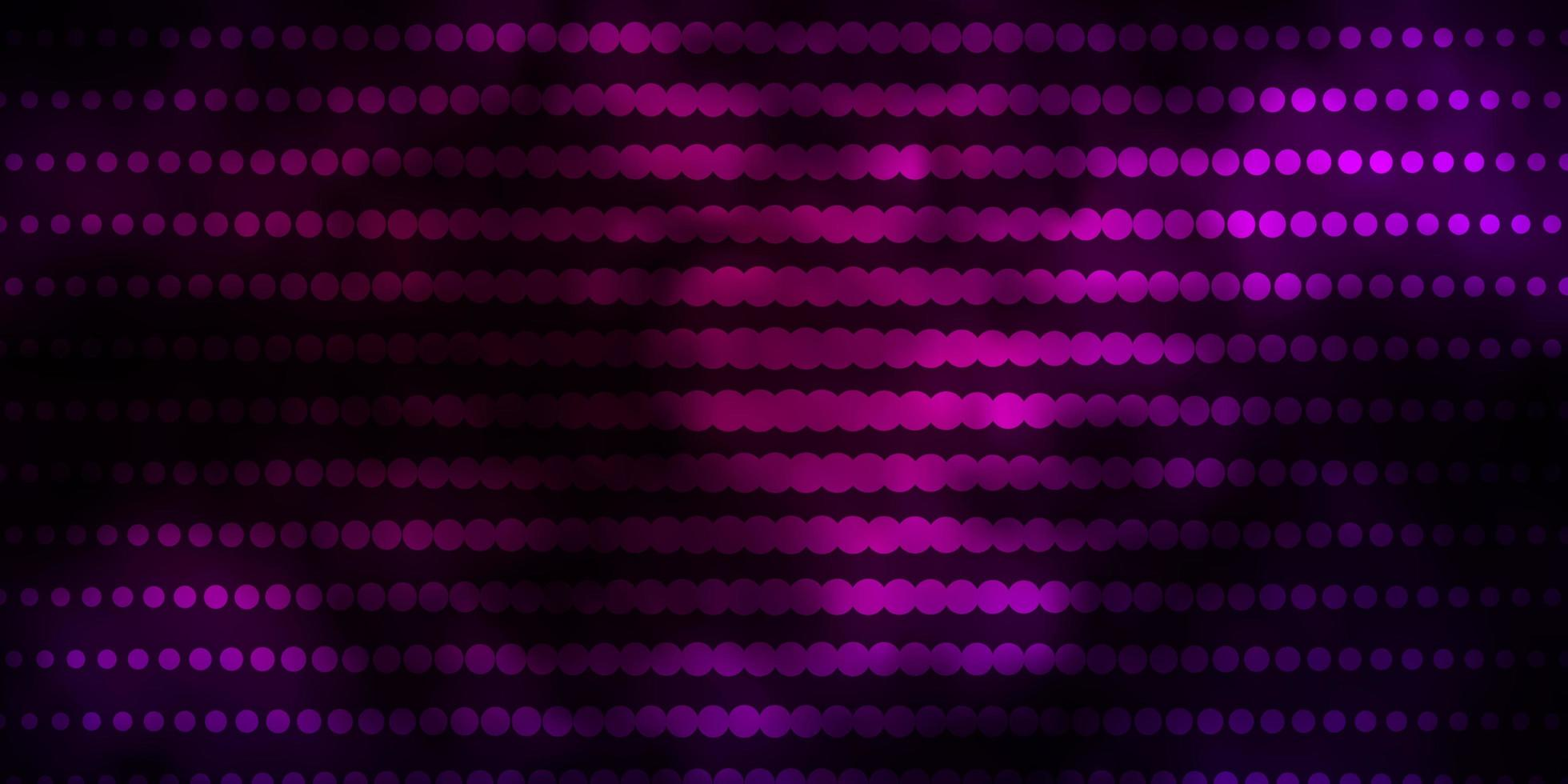 Dark Pink vector background with circles.