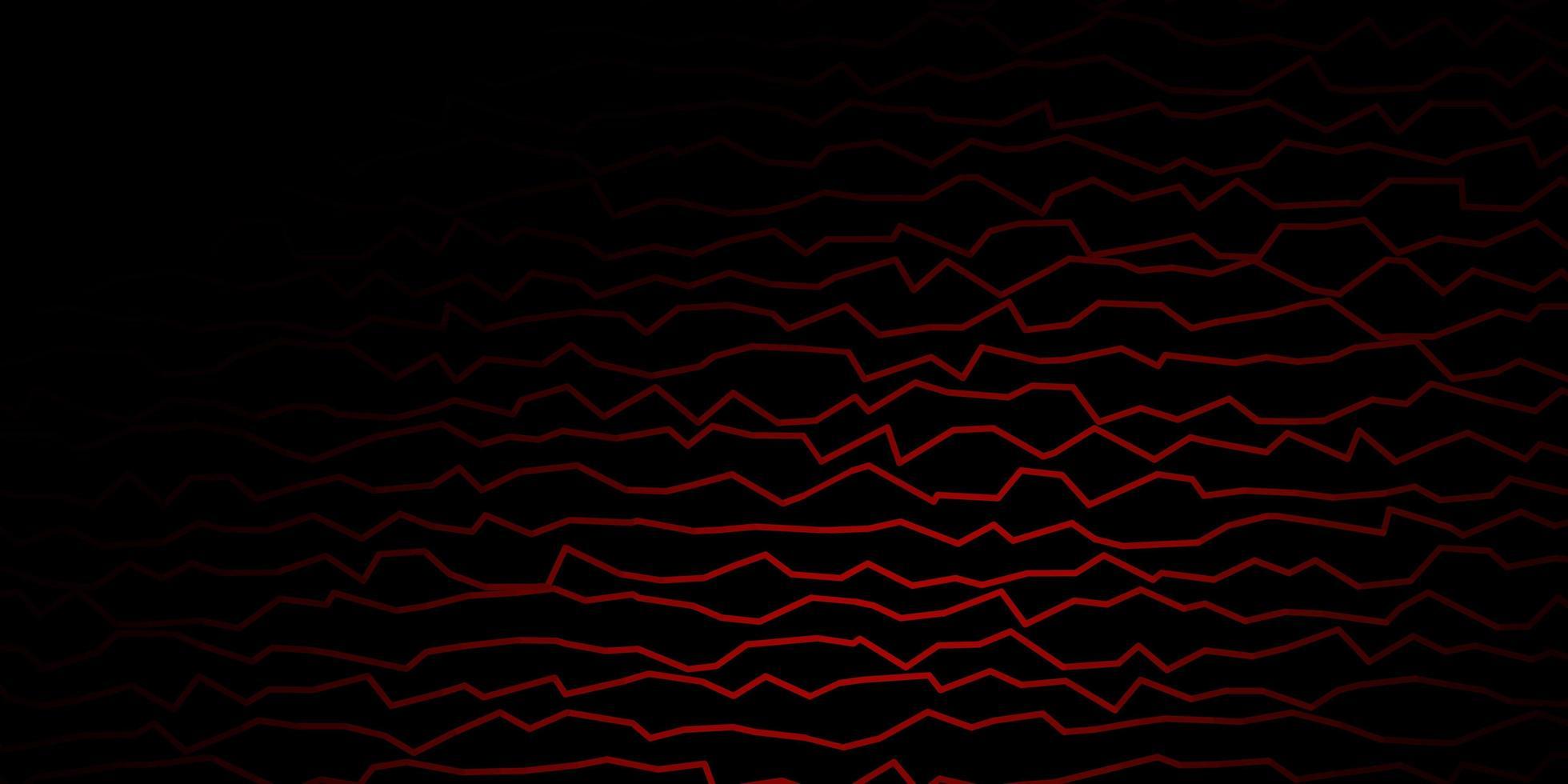 patrón de vector rojo oscuro con líneas torcidas.