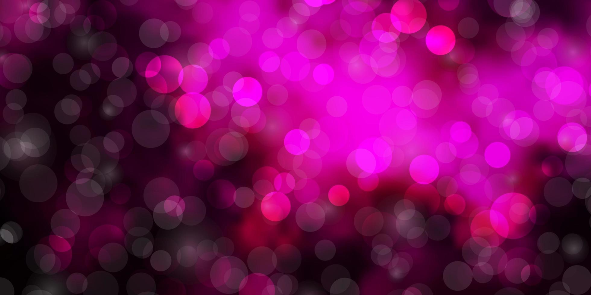 patrón de vector de color rosa oscuro con círculos.