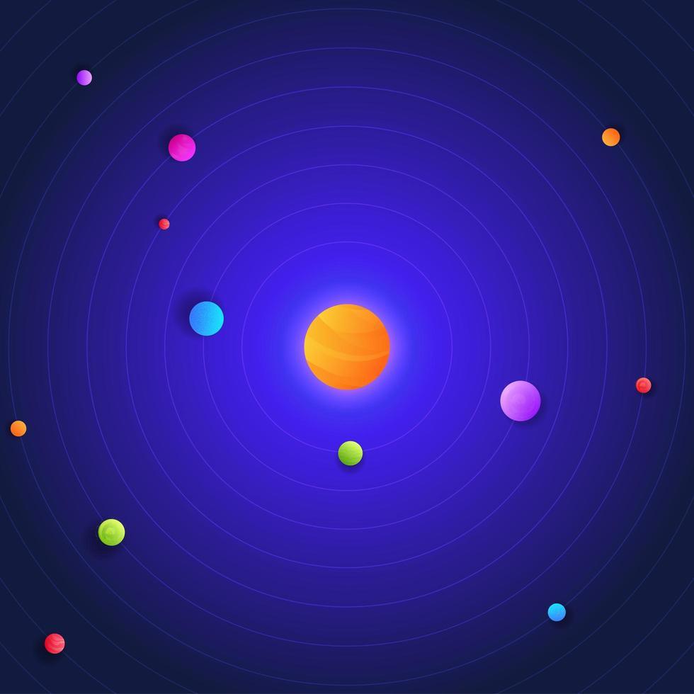 galaxia, espacio, sistema solar vector