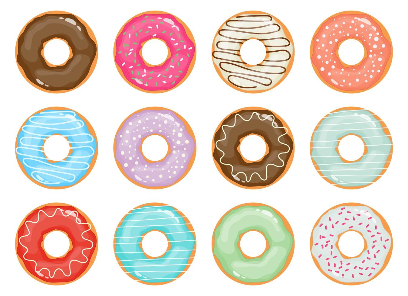 Doughnuts collection vector design illustration isolated on white background