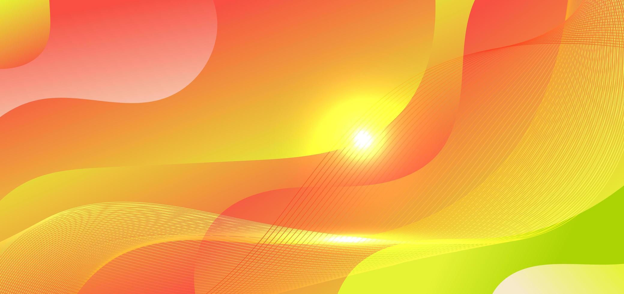 Fondo abstracto en forma de onda degradado verde y rojo con rayos de luz vector