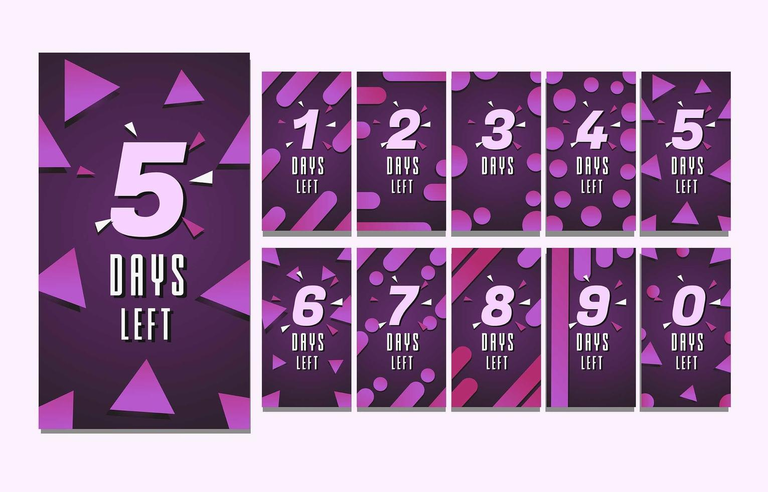 Countdown Story Purple Template vector