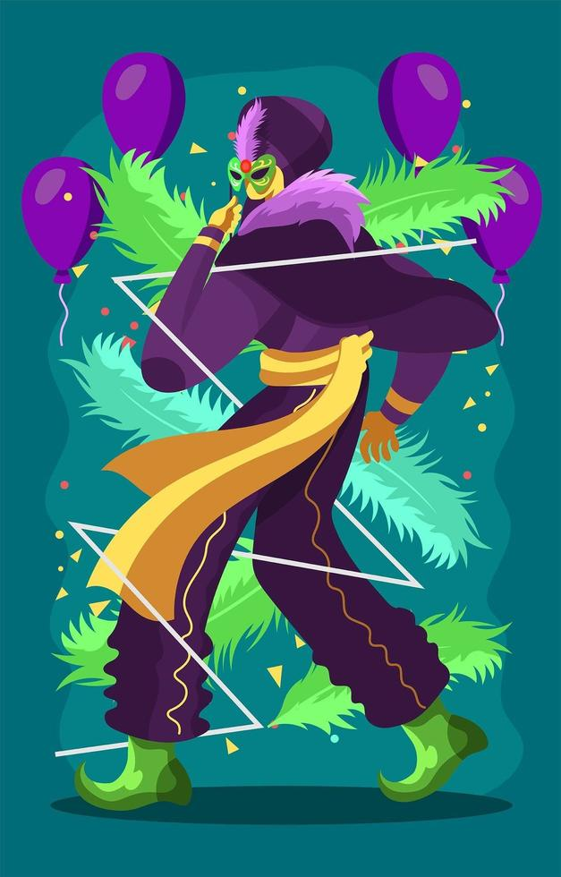 Mask With Style at Mardi Gras Carnival vector