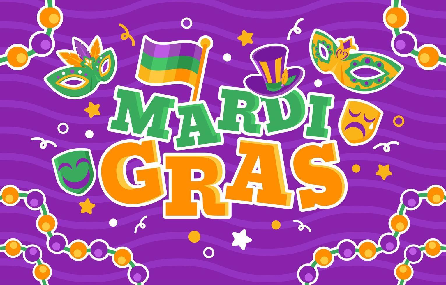 Colorful Festive Mardi Gras vector