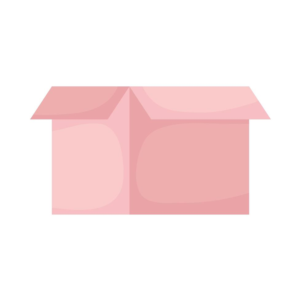 charity donation box isolated icon vector