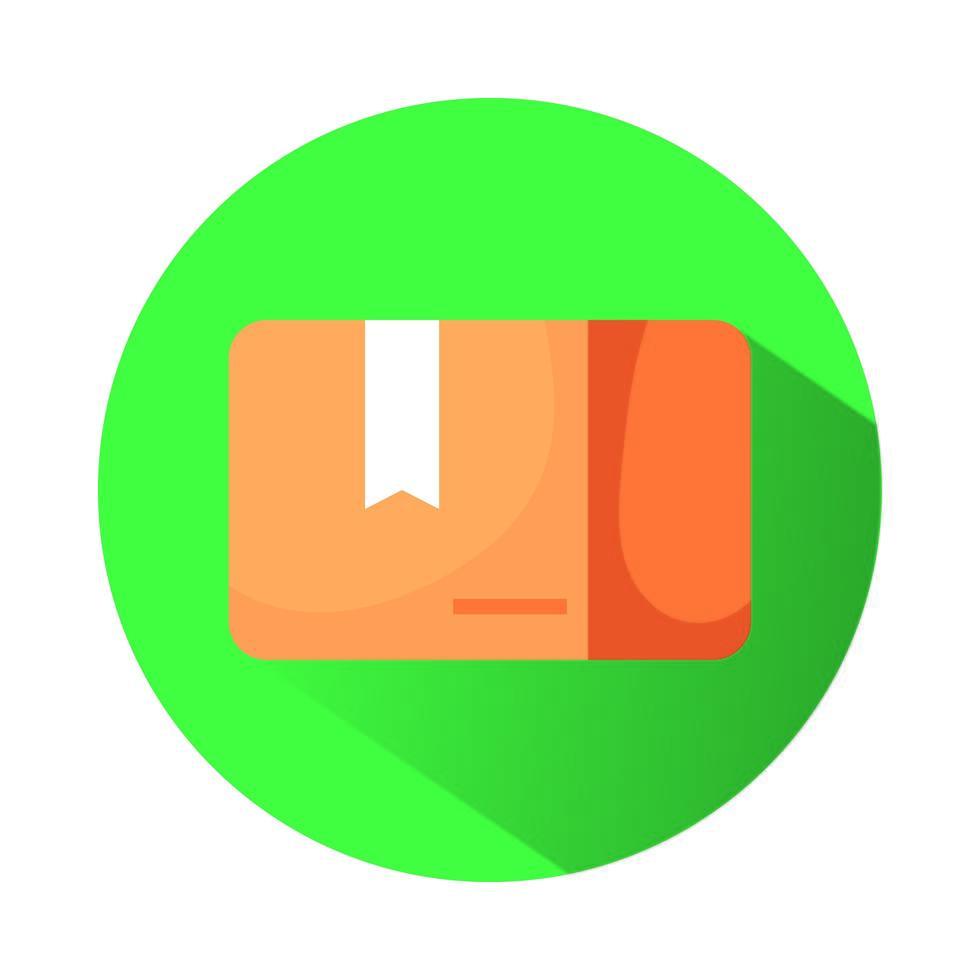 Caja de cartón icono aislado del servicio de entrega vector