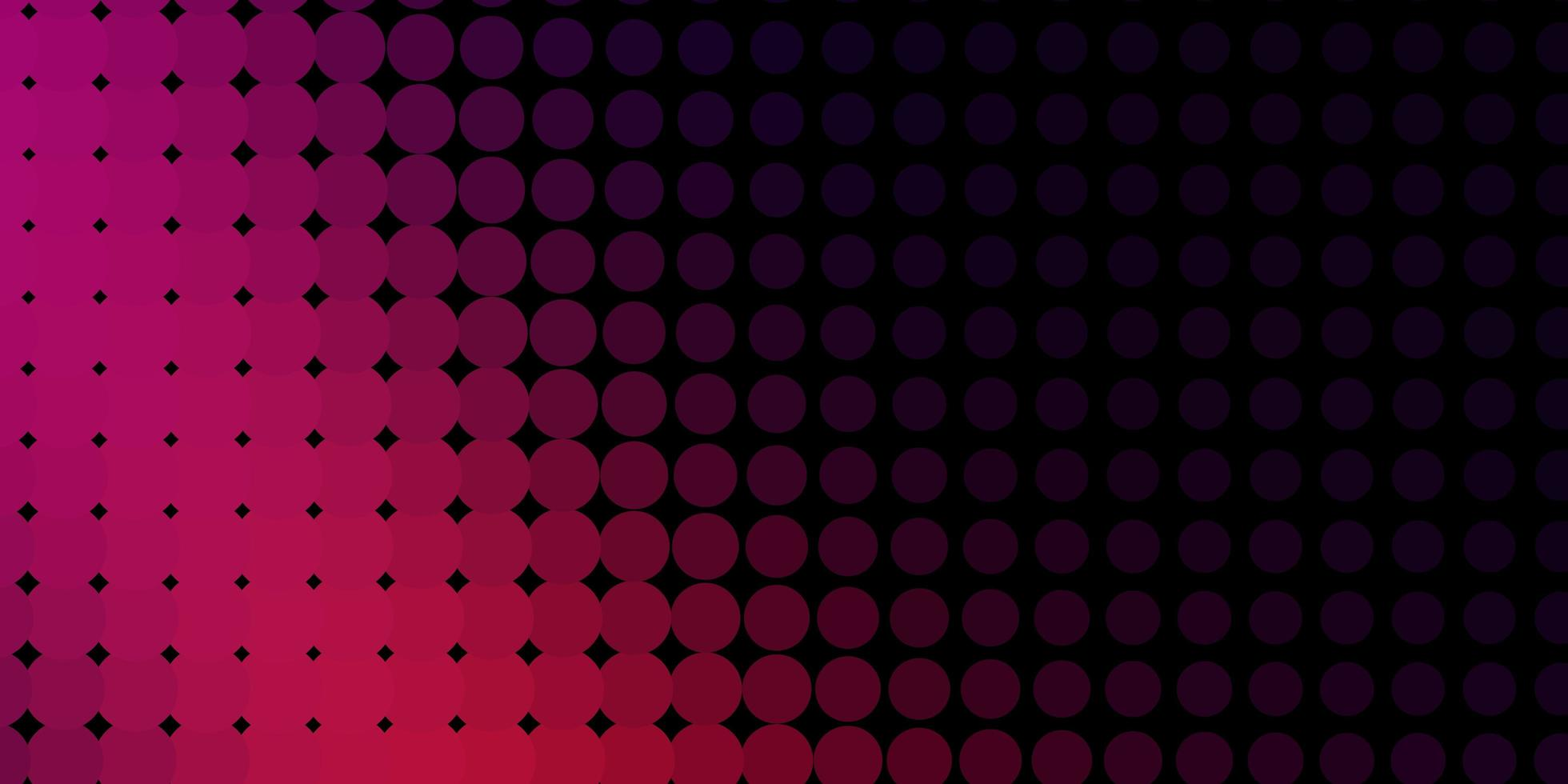 Dark Pink vector background with bubbles.