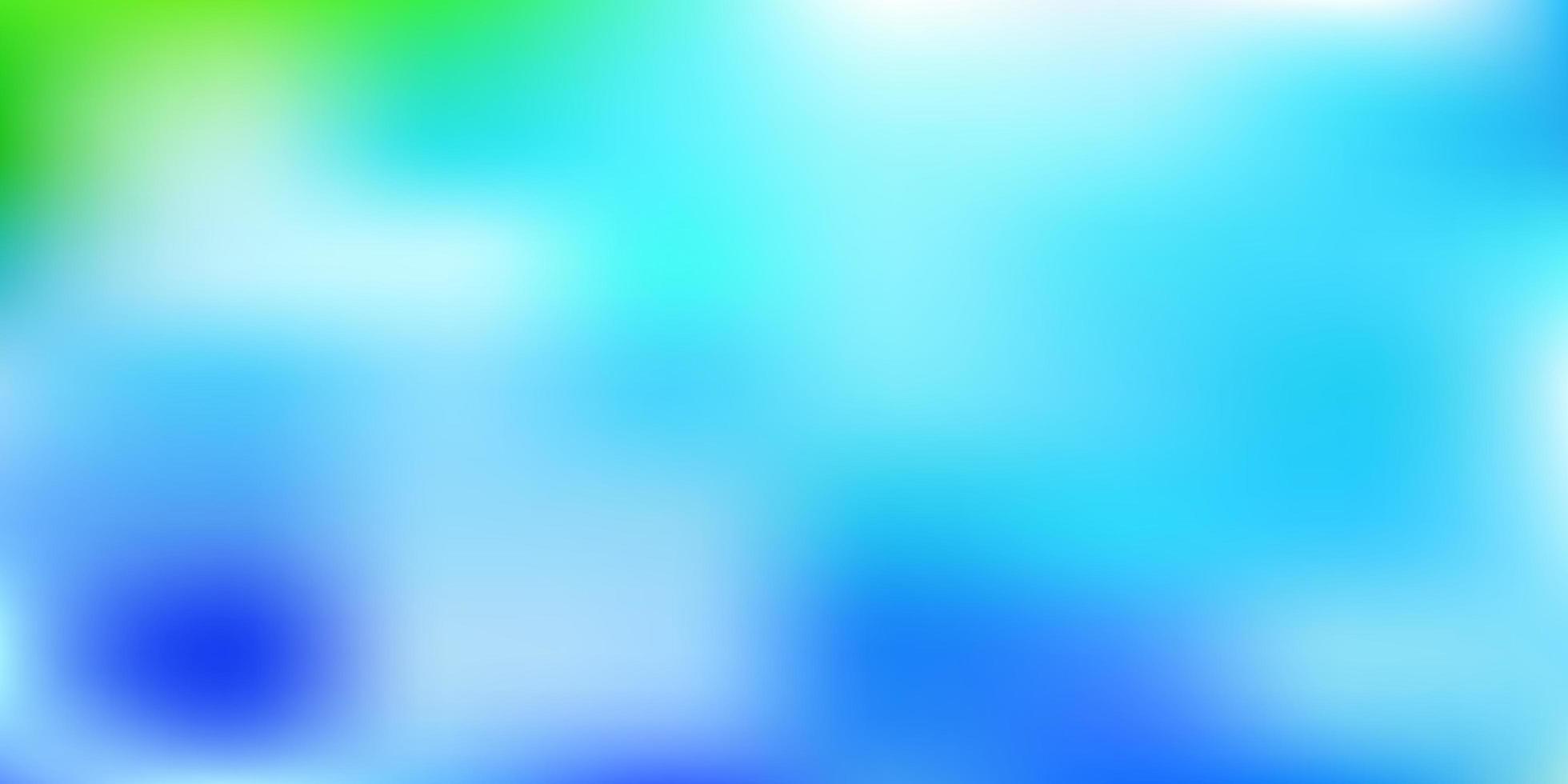 plantilla de desenfoque de vector azul claro, verde.